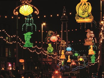 The lights of the Blackpool Illuminations