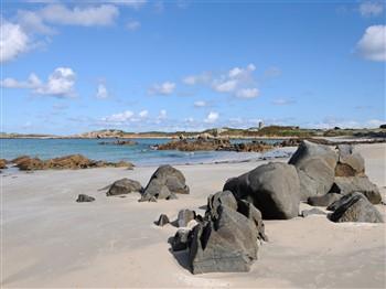 Deserted beach in Guernsey