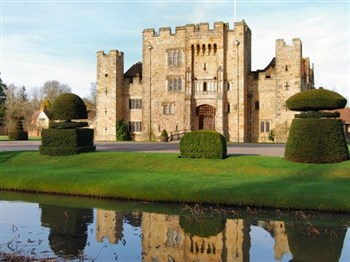 A view of the front of Hever Castle