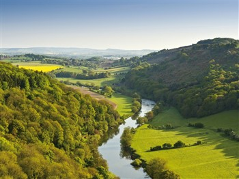 Aerial view of River Wye