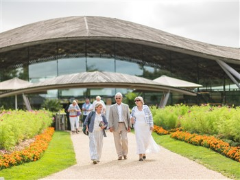 People visiting Savill Gardens
