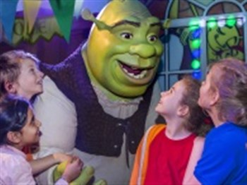 Shrek with some children