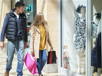 Couple in a shopping centre