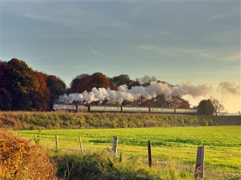 Steam train on the Mid Hants Railway - The Watercress Line