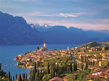 View across Lake Garda