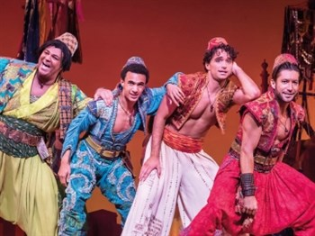 Some charaters in Aladdin the musical