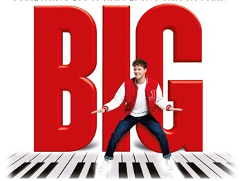 BIG the Musical logo showing character on a keyboard