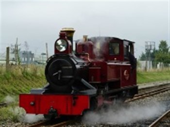 A steam train on the track
