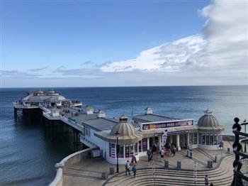 Aerial view of Cromer Pier