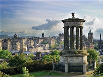 City of Edinburgh as viewed from Calton Hill