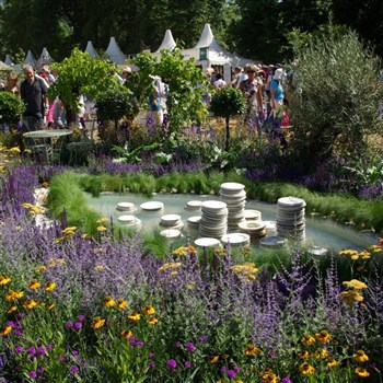 One of the featured gardens at the flower show