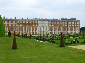 Hampton Court Palace and the beautiful gardens