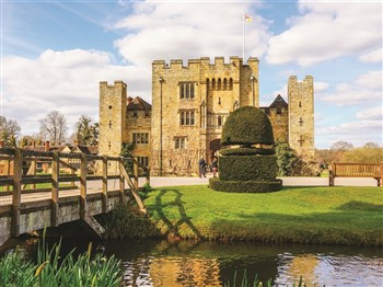 Hever Castle as viewed from bridge