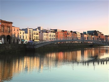 Bridge over River Liffey in Dublin