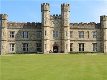 A front view of Leeds Castle
