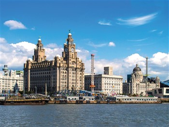 Liver Building at Royal Albert Dock in Liverpool