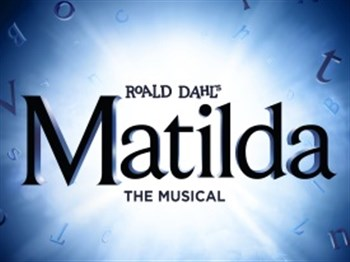 Matilda the musical logo showing Matilda on a swing
