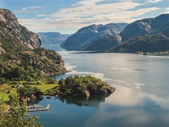 Birds-eye view of Norwegian fjords