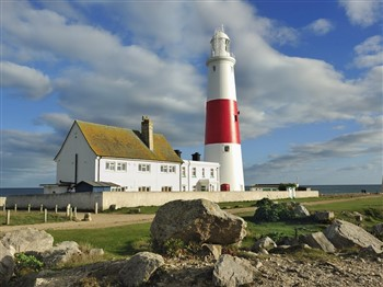 Portland Bill bright and cloudy
