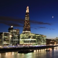 The Shard after dark with two course lunch