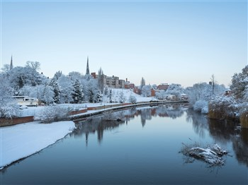 Shrewsbury in the snow