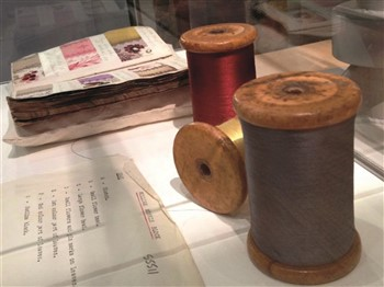 A part of the textile exhibition