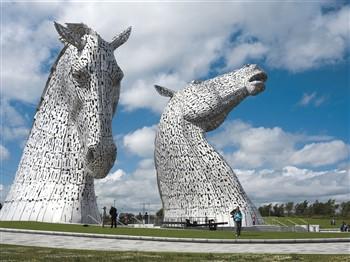 The Kelpie Horses in Scotland