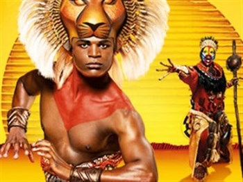 Two charaters from the Lion King musical