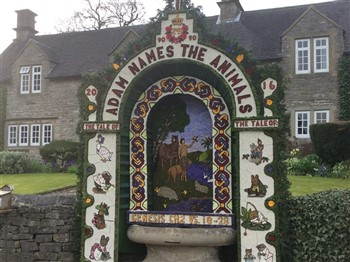 A dressed well in Tissington