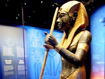 An image of an exhibit from Tutankhamun exhibition