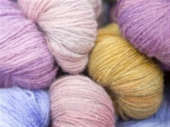 A selection of multicoloured wool