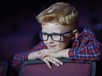 Young boy watching a show